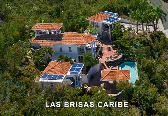 An Aerial View of Private Las Brisas Caribe Villa