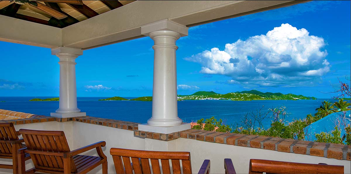 Caribbean View by Day - Villa  Las Brisas Caribe Crow's Nest
